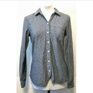 Levi's Long Sleeve Chambray Button Up Floral